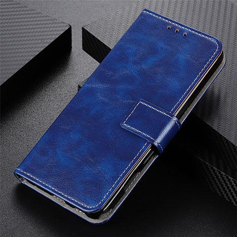 Coque Portefeuille Livre Cuir Etui Clapet L07 pour Motorola Moto G9 Plus Bleu