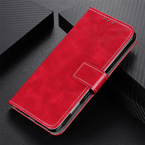 Coque Portefeuille Livre Cuir Etui Clapet L07 pour Motorola Moto G9 Plus Rouge