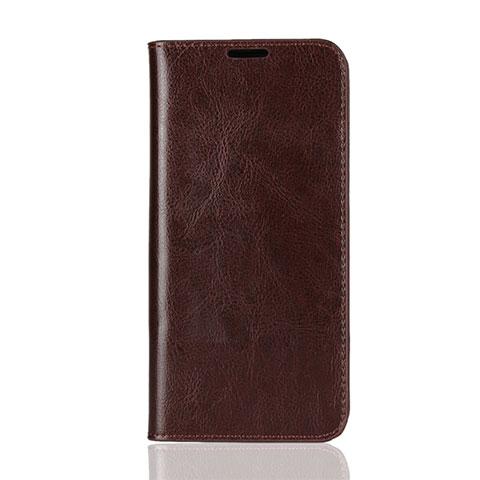 Coque Portefeuille Livre Cuir Etui Clapet L08 pour Huawei Honor 8X Marron