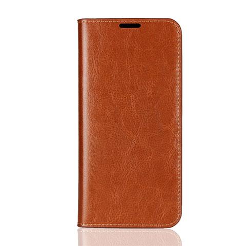 Coque Portefeuille Livre Cuir Etui Clapet L08 pour Huawei Honor 8X Orange