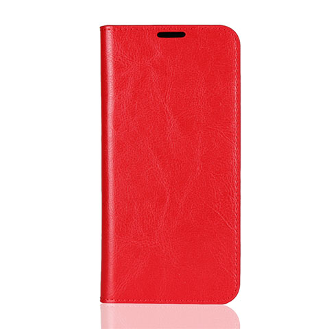 Coque Portefeuille Livre Cuir Etui Clapet L08 pour Huawei Honor 8X Rouge