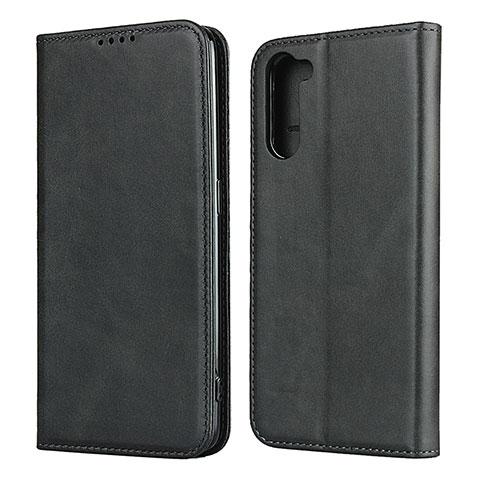Coque Portefeuille Livre Cuir Etui Clapet L08 pour Oppo Reno3 A Noir
