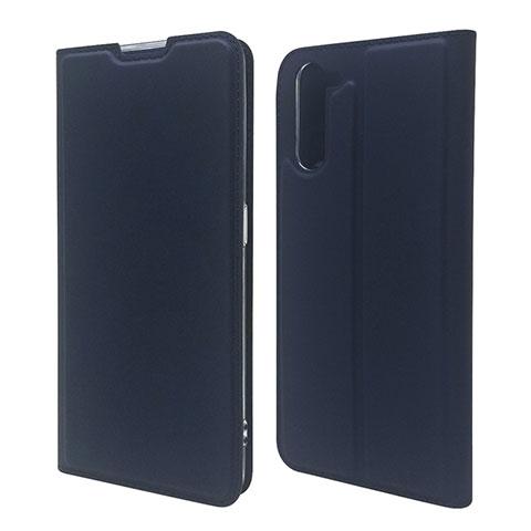 Coque Portefeuille Livre Cuir Etui Clapet L09 pour Oppo Reno3 A Bleu Royal