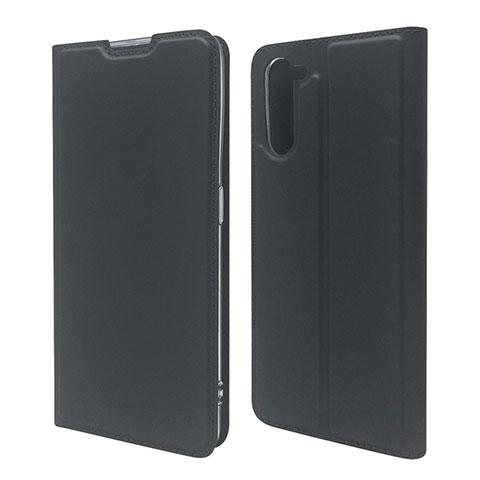 Coque Portefeuille Livre Cuir Etui Clapet L09 pour Oppo Reno3 A Noir