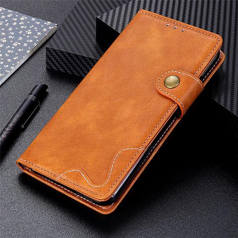 Coque Portefeuille Livre Cuir Etui Clapet pour Motorola Moto G9 Plus Orange