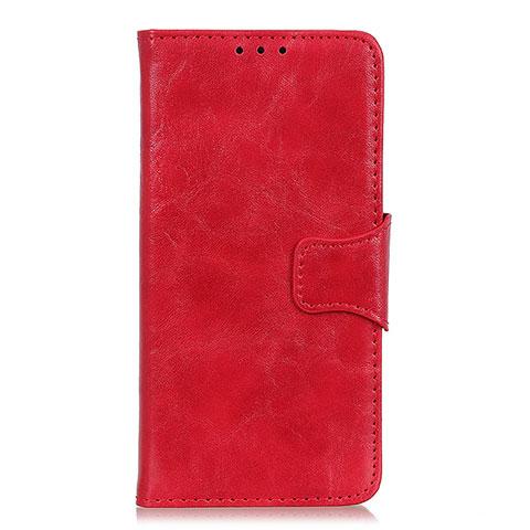 Coque Portefeuille Livre Cuir Etui Clapet pour Oppo Reno3 A Rouge
