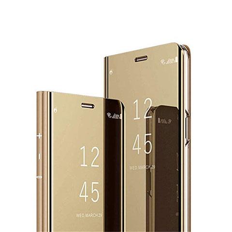 Coque Portefeuille Livre Cuir Miroir Housse Etui Clapet L02 pour Xiaomi Mi 10 Ultra Or