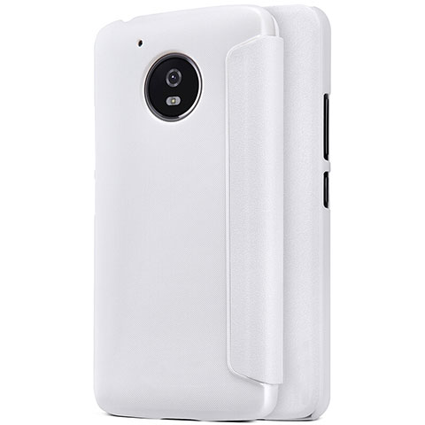 Coque Portefeuille Livre Cuir pour Motorola Moto G5 Blanc