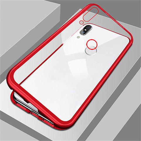 Coque Rebord Bumper Luxe Aluminum Metal Miroir Housse Etui pour Huawei Honor 8X Rouge