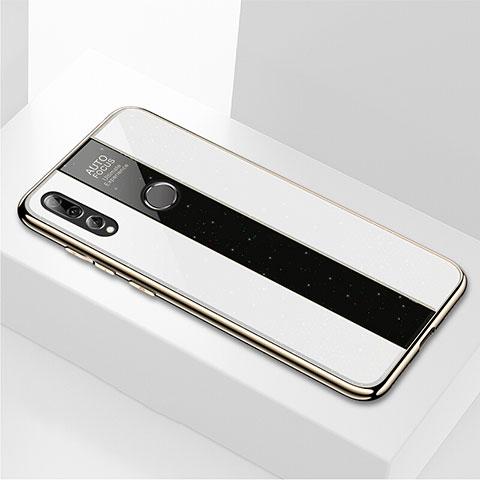 Coque Rebord Contour Silicone et Vitre Miroir Housse Etui M02 pour Huawei Honor 20 Lite Blanc