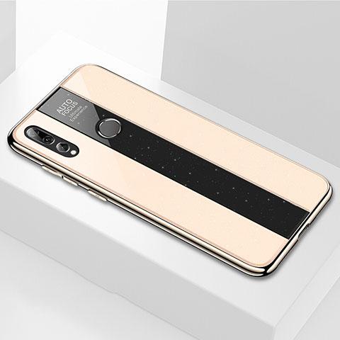 Coque Rebord Contour Silicone et Vitre Miroir Housse Etui M02 pour Huawei Honor 20 Lite Or