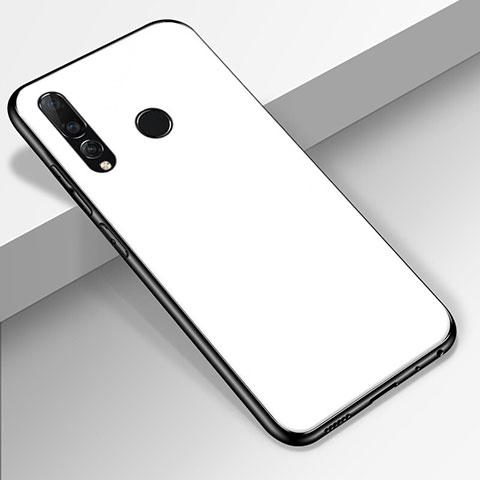 Coque Rebord Contour Silicone et Vitre Miroir Housse Etui pour Huawei Honor 20 Lite Blanc