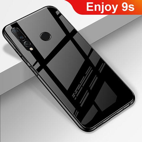 Coque Rebord Contour Silicone et Vitre Miroir Housse Etui pour Huawei Honor 20 Lite Noir