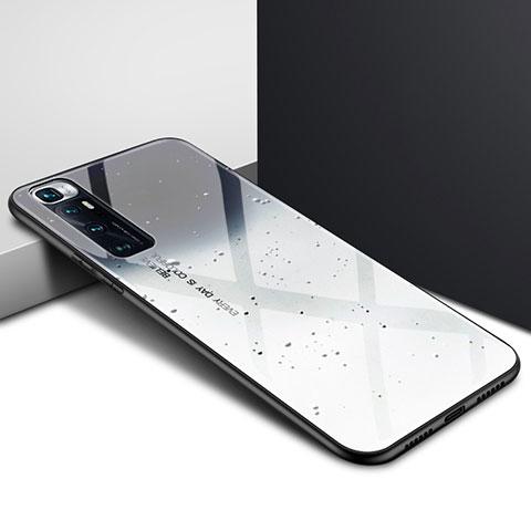 Coque Rebord Contour Silicone et Vitre Miroir Housse Etui pour Xiaomi Mi 10 Ultra Gris