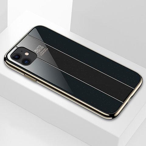Coque Rebord Contour Silicone et Vitre Miroir Housse Etui T03 pour Apple iPhone 11 Noir