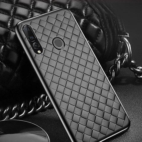 Coque Silicone Gel Motif Cuir Housse Etui A01 pour Huawei Honor 20 Lite Noir