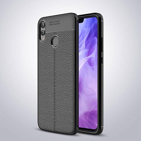 Coque Silicone Gel Motif Cuir Q01 pour Huawei Honor 8X Noir