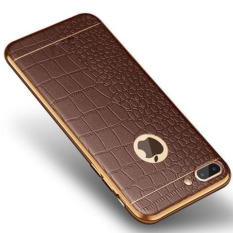 coque iphone 8 silicone marron