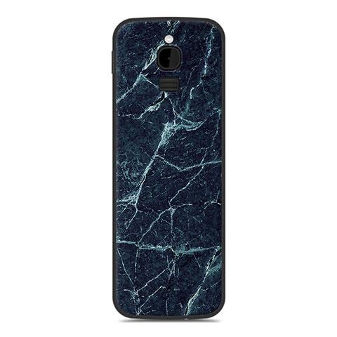 Coque Silicone Housse Etui Gel Line pour Nokia 8110 (2018) Bleu