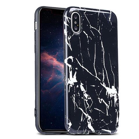 coque noir motif iphone x