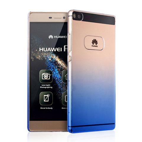 Coque Transparente Rigide Degrade pour Huawei P8 Bleu