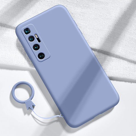 Coque Ultra Fine Silicone Souple 360 Degres Housse Etui pour Xiaomi Mi 10 Ultra Gris Lavende