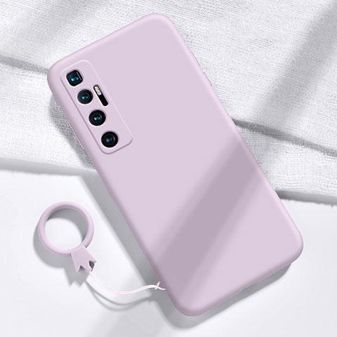 Coque Ultra Fine Silicone Souple 360 Degres Housse Etui pour Xiaomi Mi 10 Ultra Violet Clair