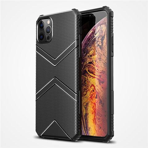 Coque Ultra Fine Silicone Souple 360 Degres Housse Etui S02 pour Apple iPhone 12 Pro Max Noir