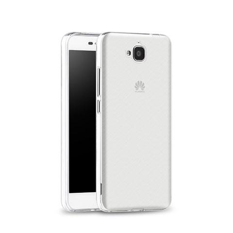Coque Ultra Fine Silicone Souple Transparente pour Huawei Y6 Pro Blanc
