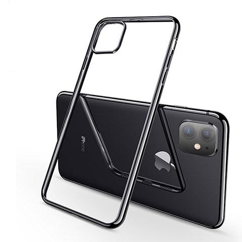 Coque Ultra Fine TPU Souple Housse Etui Transparente H03 pour Apple iPhone 11 Noir