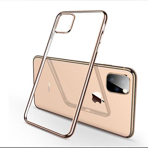 Coque Ultra Fine TPU Souple Housse Etui Transparente H03 pour Apple iPhone 11 Pro Or