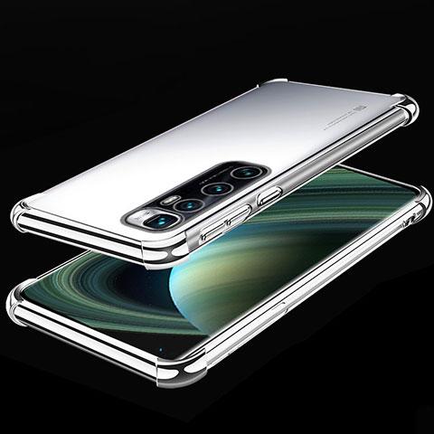 Coque Ultra Fine TPU Souple Housse Etui Transparente H04 pour Xiaomi Mi 10 Ultra Argent