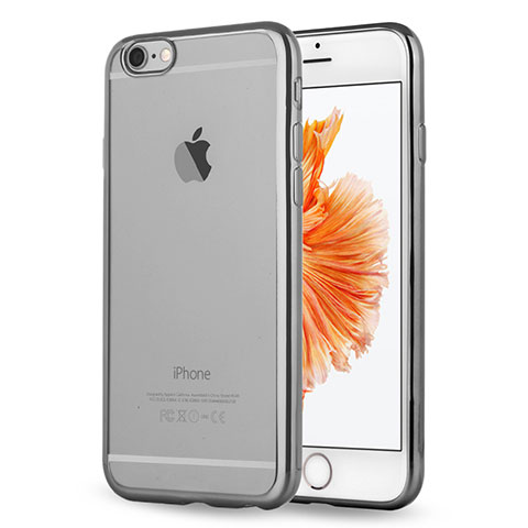 coque ultra fine tpu souple housse etui transparente h17 pour apple iphone 6s gris 13032 1