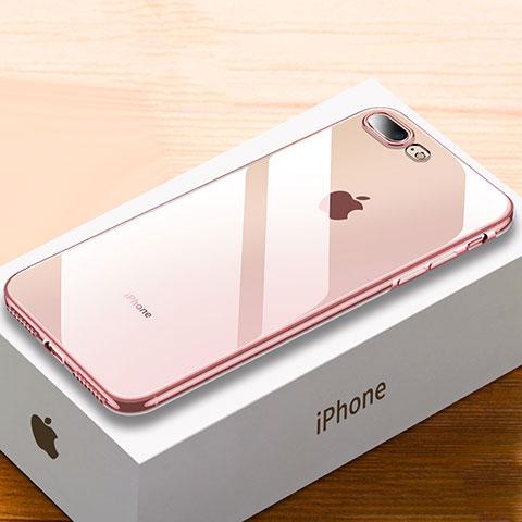 coque ultra fine tpu souple housse etui transparente hc02 pour apple iphone 8 plus or rose 36442 1