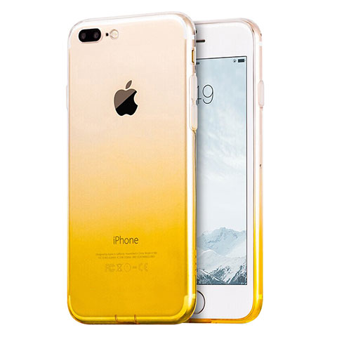 coque iphone 8 plus contour jaune