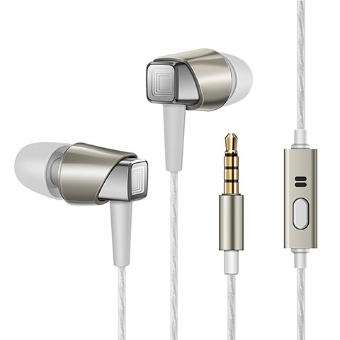 Ecouteur Filaire Sport Stereo Casque Intra-auriculaire Oreillette H19 Or