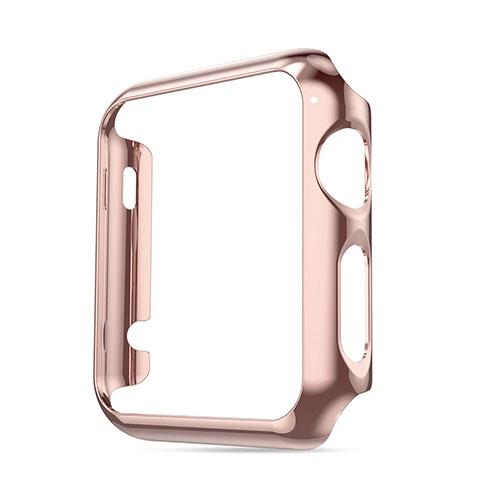Etui Bumper Luxe Aluminum Metal pour Apple iWatch 38mm Rose