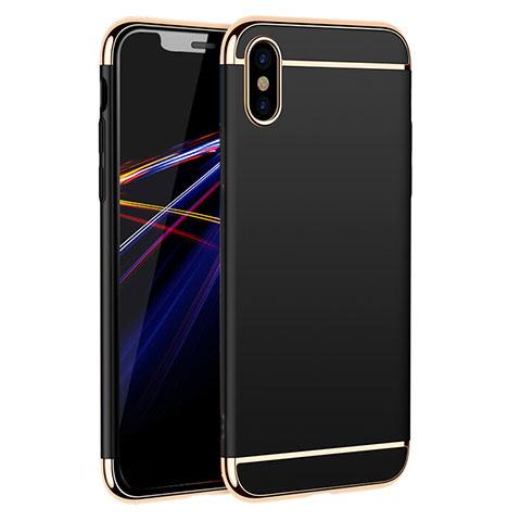 Etui Bumper Luxe Metal et Plastique M01 pour Apple iPhone Xs Max Noir