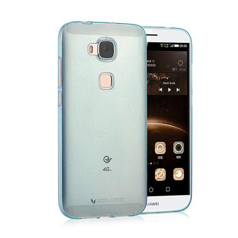 Etui Ultra Fine Silicone Souple Transparente pour Huawei G7 Plus Bleu