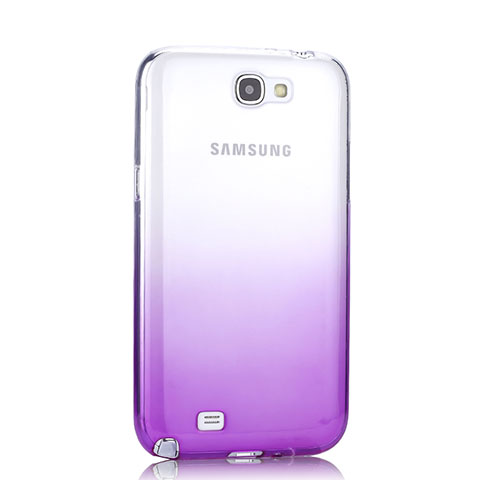 Etui Ultra Fine Transparente Souple Degrade pour Samsung Galaxy Note 2 N7100 N7105 Violet