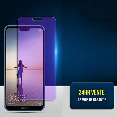Film Protecteur d'Ecran Verre Trempe Anti-Lumiere Bleue pour Huawei P20 Lite Clair