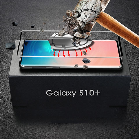 Film Protection Protecteur d'Ecran Verre Trempe Integrale pour Samsung Galaxy S10 Plus Noir