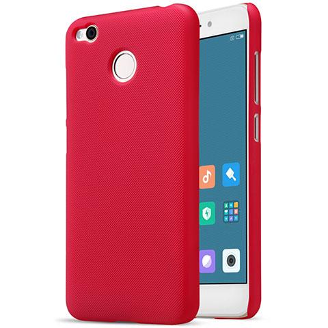 Housse Plastique Rigide Mailles Filet pour Xiaomi Redmi 4X Rouge