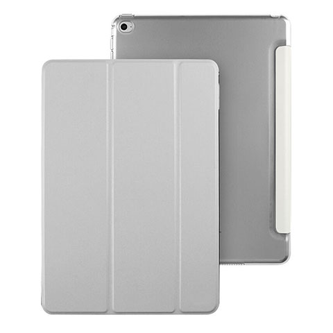 Housse Portefeuille Livre Cuir pour Apple iPad Mini 4 Gris