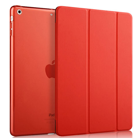 Housse Portefeuille Livre Cuir pour Apple iPad Mini Rouge