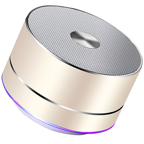 Mini Haut Parleur Enceinte Portable Sans Fil Bluetooth Haut-Parleur K01 Or