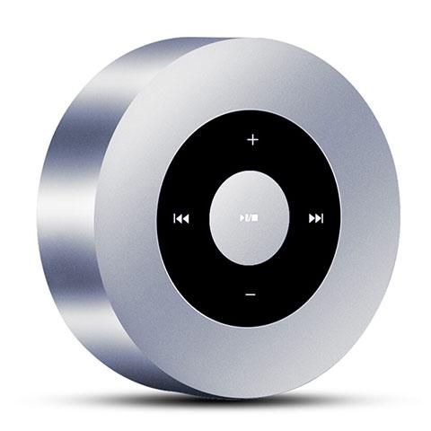 Mini Haut Parleur Enceinte Portable Sans Fil Bluetooth Haut-Parleur S07 Argent