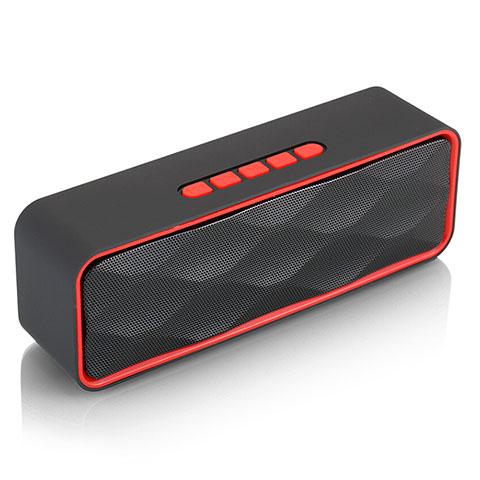 Mini Haut Parleur Enceinte Portable Sans Fil Bluetooth Haut-Parleur S18 Rouge