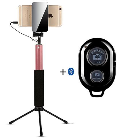 Perche de Selfie Sans Fil Bluetooth Baton de Selfie Extensible de Poche Universel S15 Or