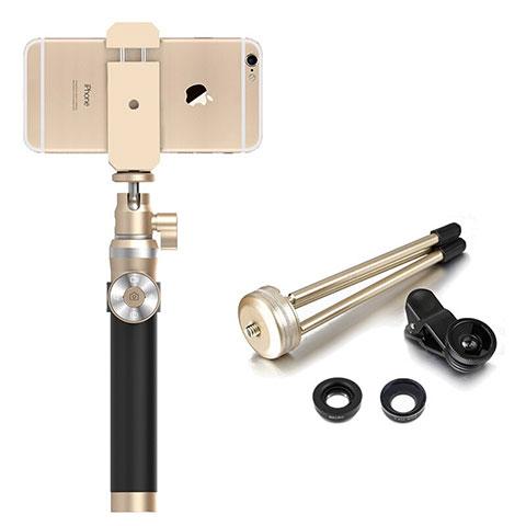Perche de Selfie Sans Fil Bluetooth Baton de Selfie Extensible de Poche Universel S16 Or